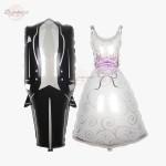 Bride Bridal Wedding Tuxedo Dress Foil Balloon Decoration