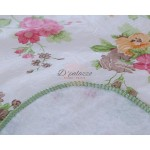 Waterproof Oil Proof PVC Table Cover Table Cloth 3 Flower Design Home Dining