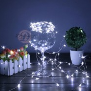 image of String White Light Copper Wire White String LED Light Copper LED Light 2M 20 LED