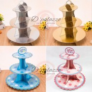 image of 3 Tiers CupCakes Stand Cup Cakes Stand Party Decoration 3 layers Plate Stand