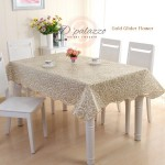 Waterproof Oil Proof PVC Table Cover Table Cloth Bronzing Flower Design