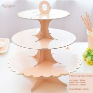 image of HOT!! (Ready Stock) - 3 Tiers Cup Cakes Stand (ROSE GOLD /GOLD)