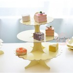 HOT!! (Ready Stock) - 3 Tiers Cup Cakes Stand (ROSE GOLD /GOLD)