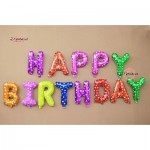 Happy Birthday Colourful Happiness Balloon Party Deco Foil Balloon Set