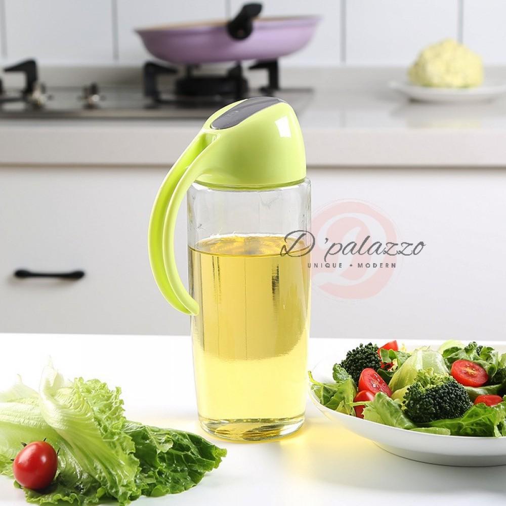 Leakproof Kitchen Glass Oiler Pot Glass Oiler Pot Oil Pot Home Jar Pot 500ml