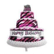 image of Happy Birthday Cake Balloon Foil Balloon For Birthday Party Decoration