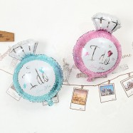 image of I DO Diamond Ring Balloon Foil Balloon, Wedding, Propose, Anniversary Decoration
