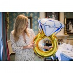 Huge Size Diamond Ring Foil Balloon Wedding, Propose Marriage, Event Party Deco