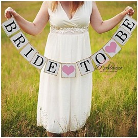 image of BRIDE TO BE Card Paper Bunting Banner Wedding Party Photo Prop