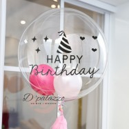 image of Transparent Balloon Stickers Happy Birthday Sticker Birthday Party Decoration