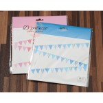 Birthday Flag Blue Pink Triangle Bunting Banner Flag for Birthday Party Deco