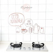 image of Kitchen Wall Sticker Wall Decoration Kitchen Wall Cover Transparent Oil Proof