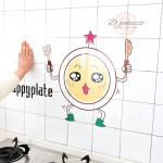 Kitchen Wall Sticker Wall Decoration Kitchen Wall Cover Transparent Oil Proof