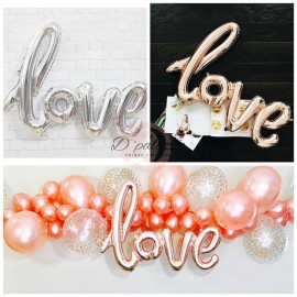 image of Love Balloon Linked Love Letter Balloon Wedding Anniversary Propose Decoration