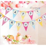 Happy Birthday Flag Triangle Bunting Banner Flag for Birthday Party Decoration