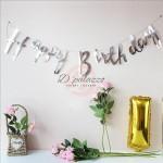 Happy Birthday Bunting Banner Glider gold Letter Bronzing Birthday Banner