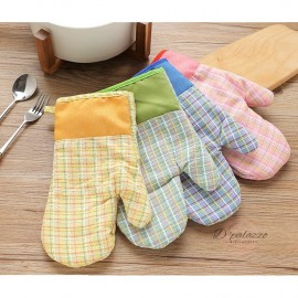 image of Cotton Hand Glove Oven Glove Kitchen Glove Good Heat Resistance Kitchen & Bakery