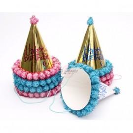 image of Bronzing Happy Birthday Hat Birthday Decoration 烫金