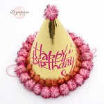 Bronzing Happy Birthday Hat Birthday Decoration 烫金