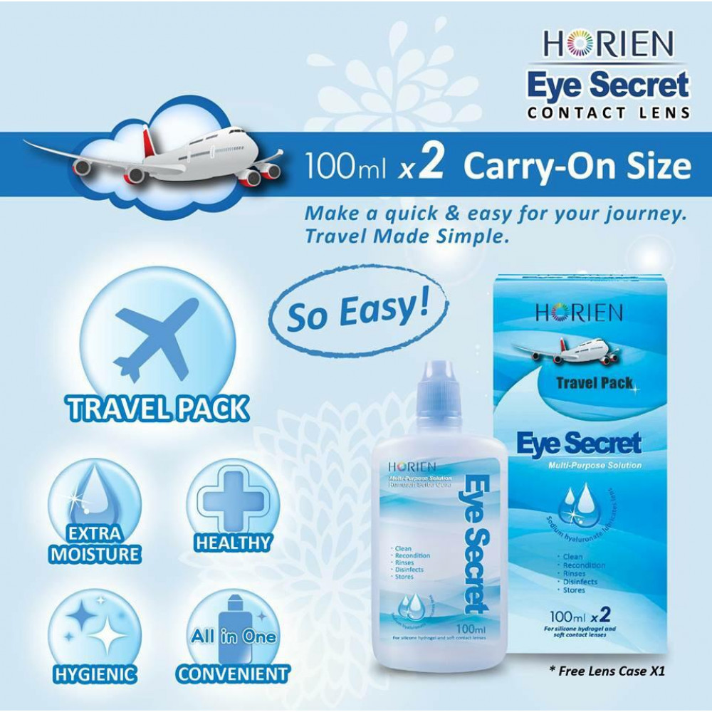 Horien Eye Secret Multi-Purpose Solution Travel Pack (100ml X 2)