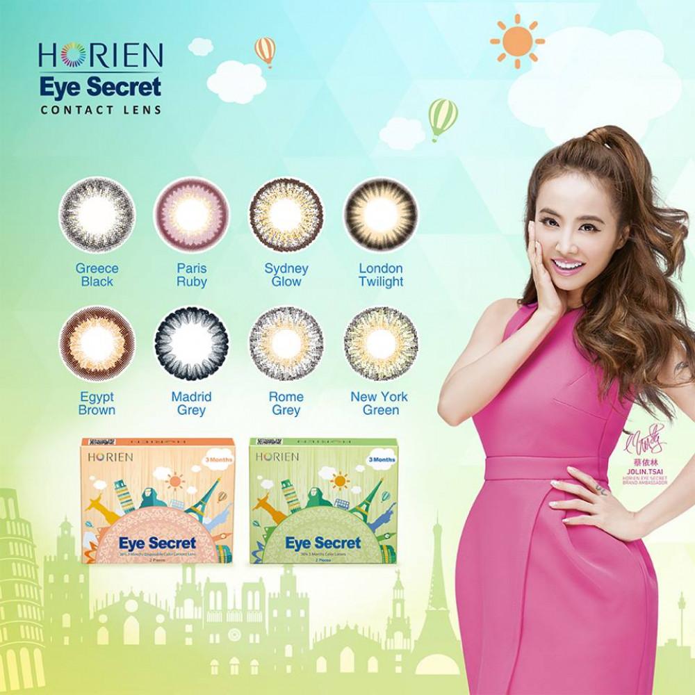 Horien Eye Secret 3 Months Disposable Color Contact Lens (2 pieces/box)