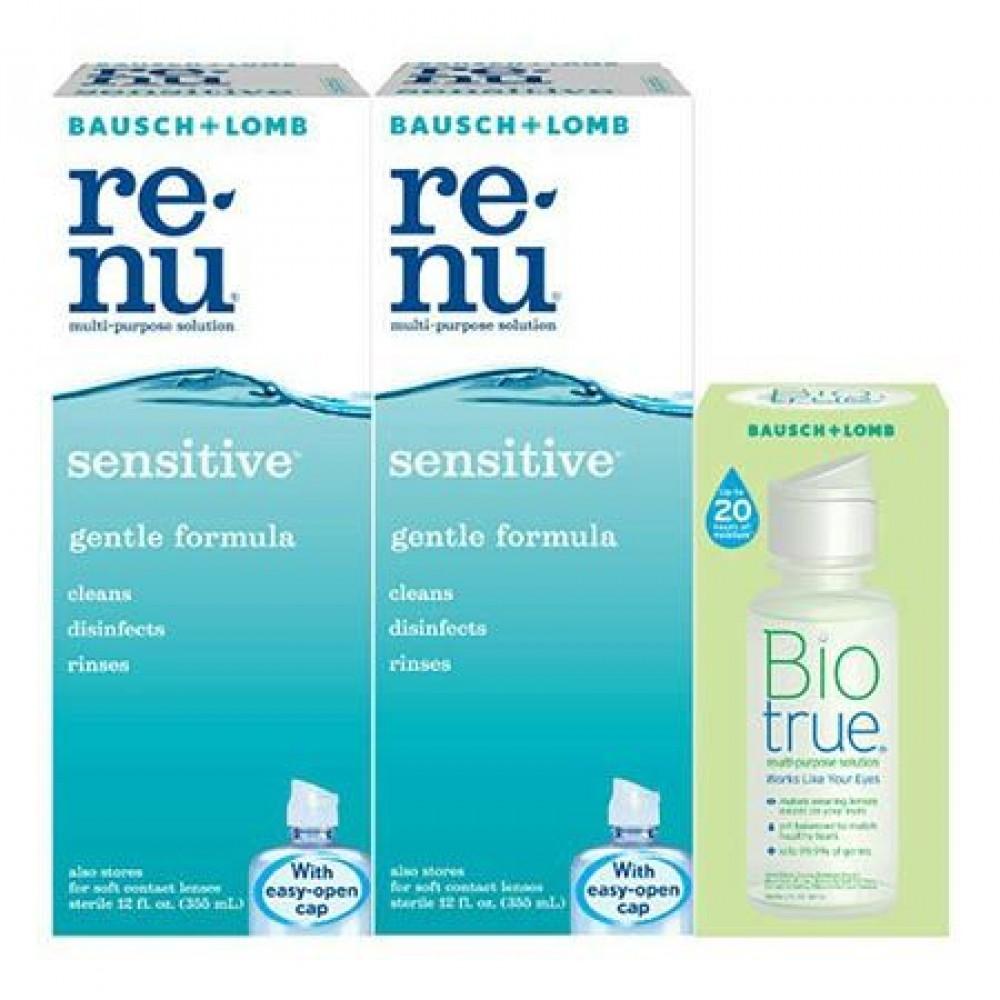Bausch And Lomb renu sensitive Multi-Purpose Solution 2x355ml