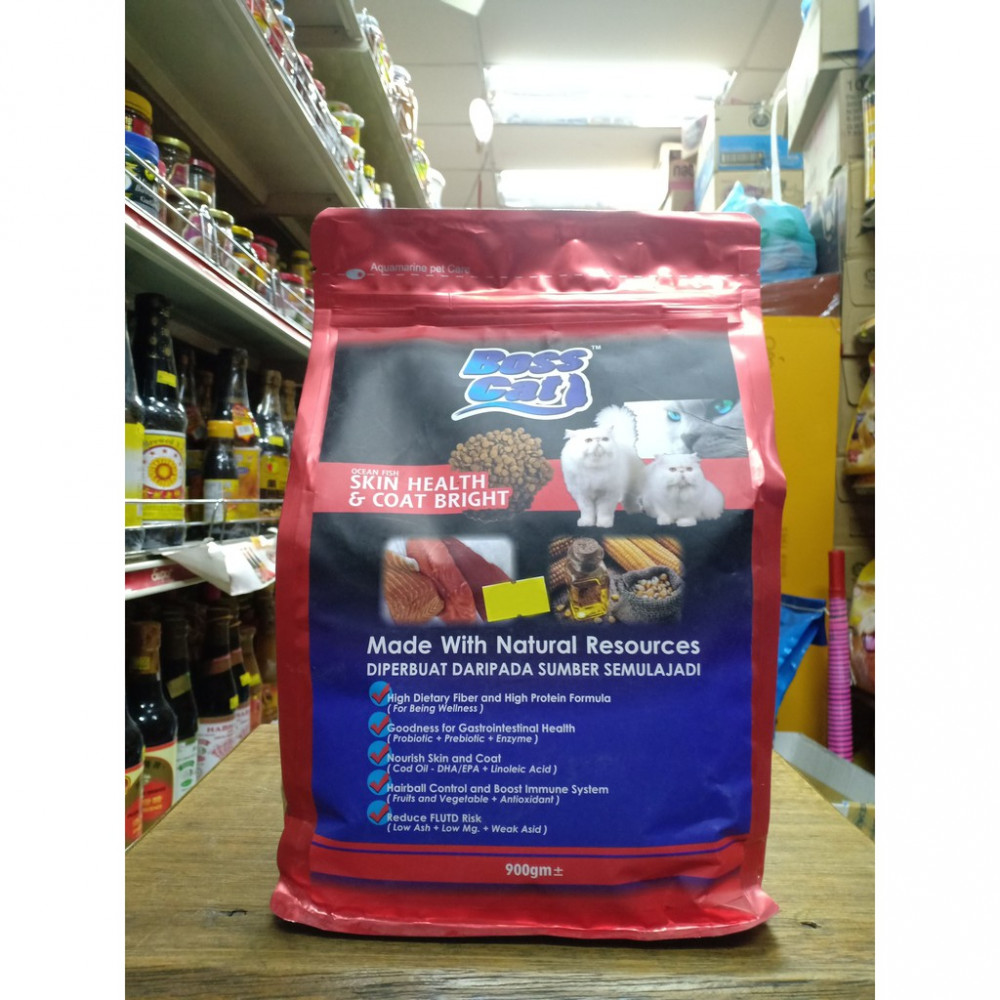 Boss Cat Skin Health and Coat Bright Made with Natural Resource