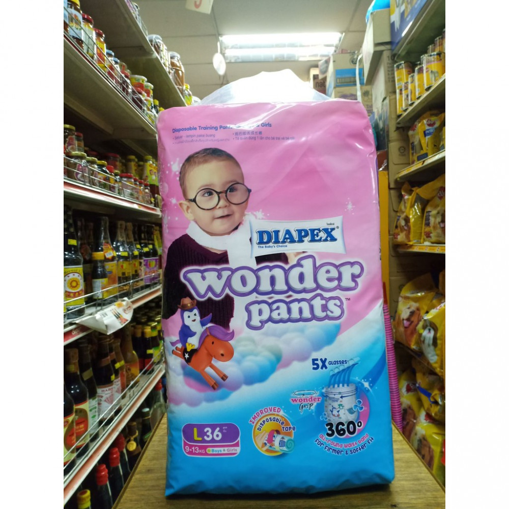 Diapex Wonder Pants L 36PCS 9-13kg Boys and Girls