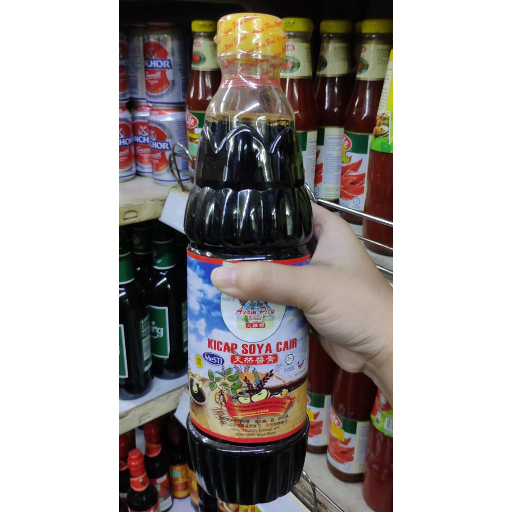 Ayam Piru Brand Kicap Soya Cair 630ml