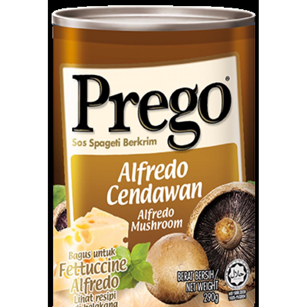 PREGO ALFREDO MUSHROOM PASTA SAUCE 290G