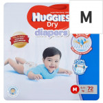 Huggies Dry Diapers M (6-11 kg) 72 Pieces