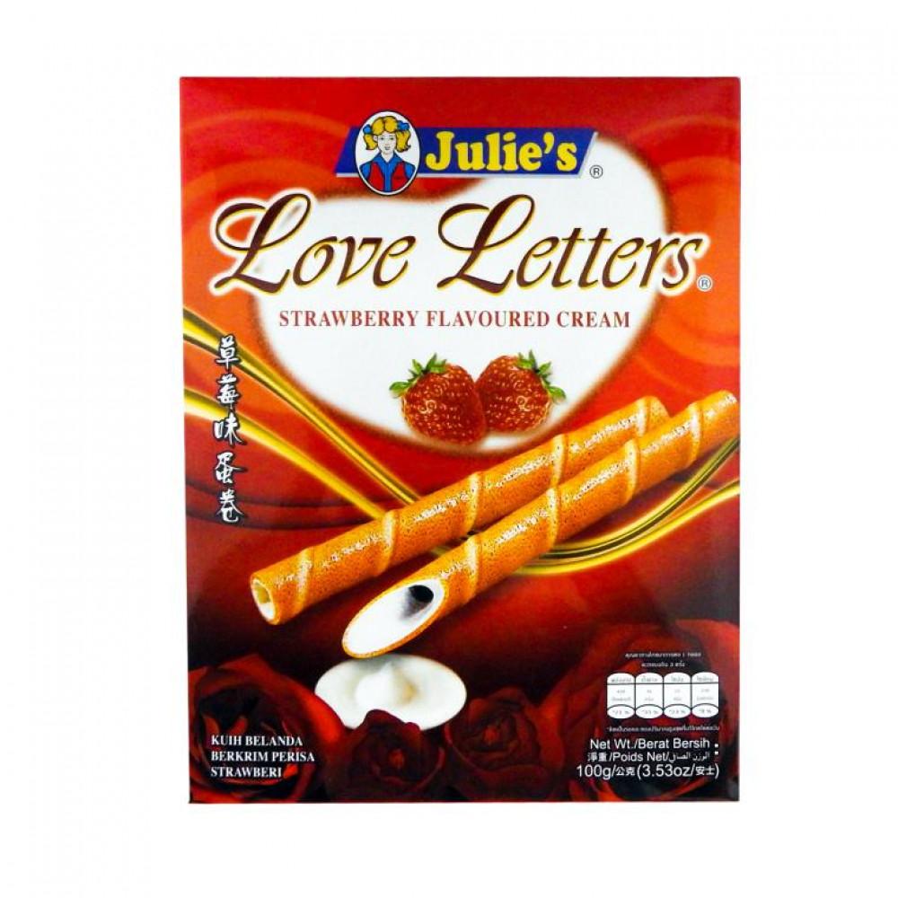 Julie's Love Letter Strawberry Cream 100g