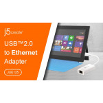 J5 Create USB2.0 Ethernet Adapter - JUE125