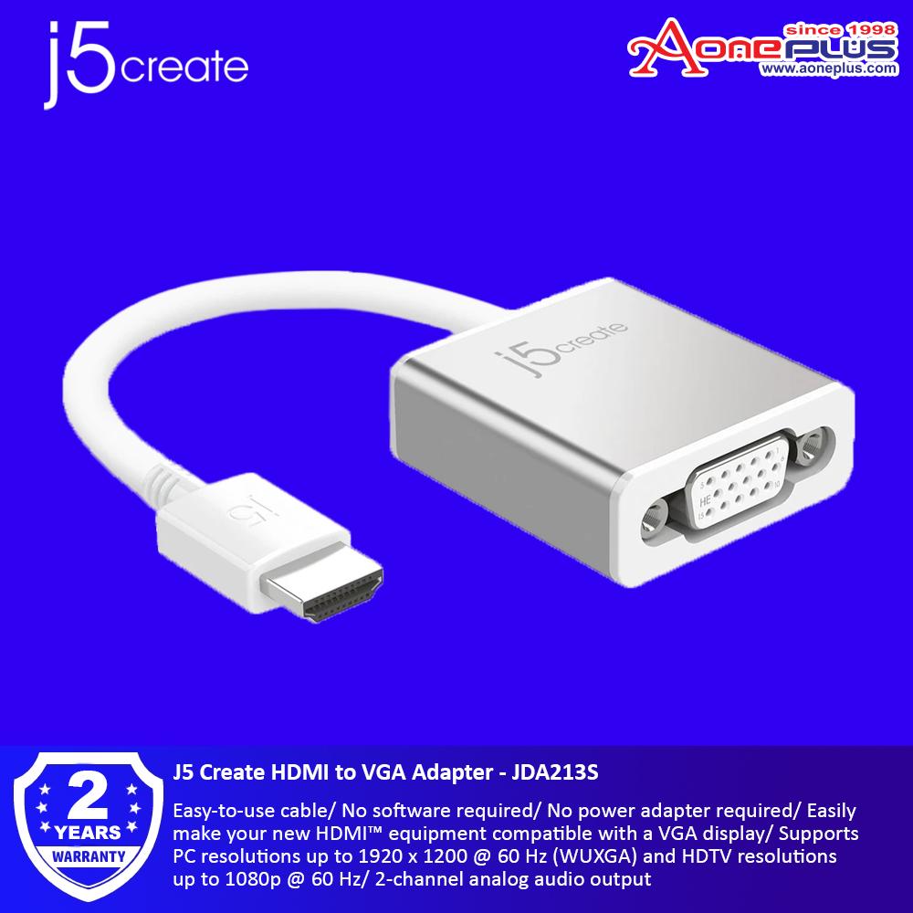 J5 Create HDMI to VGA Adapter - JDA213S