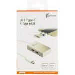 J5 Create USB Type-C 4 Port (4A) Hub - JCH343