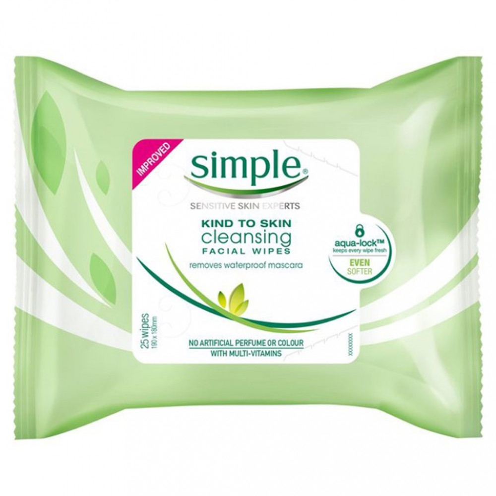 SIMPLE CLEANSING FACIAL WIPES 25`S