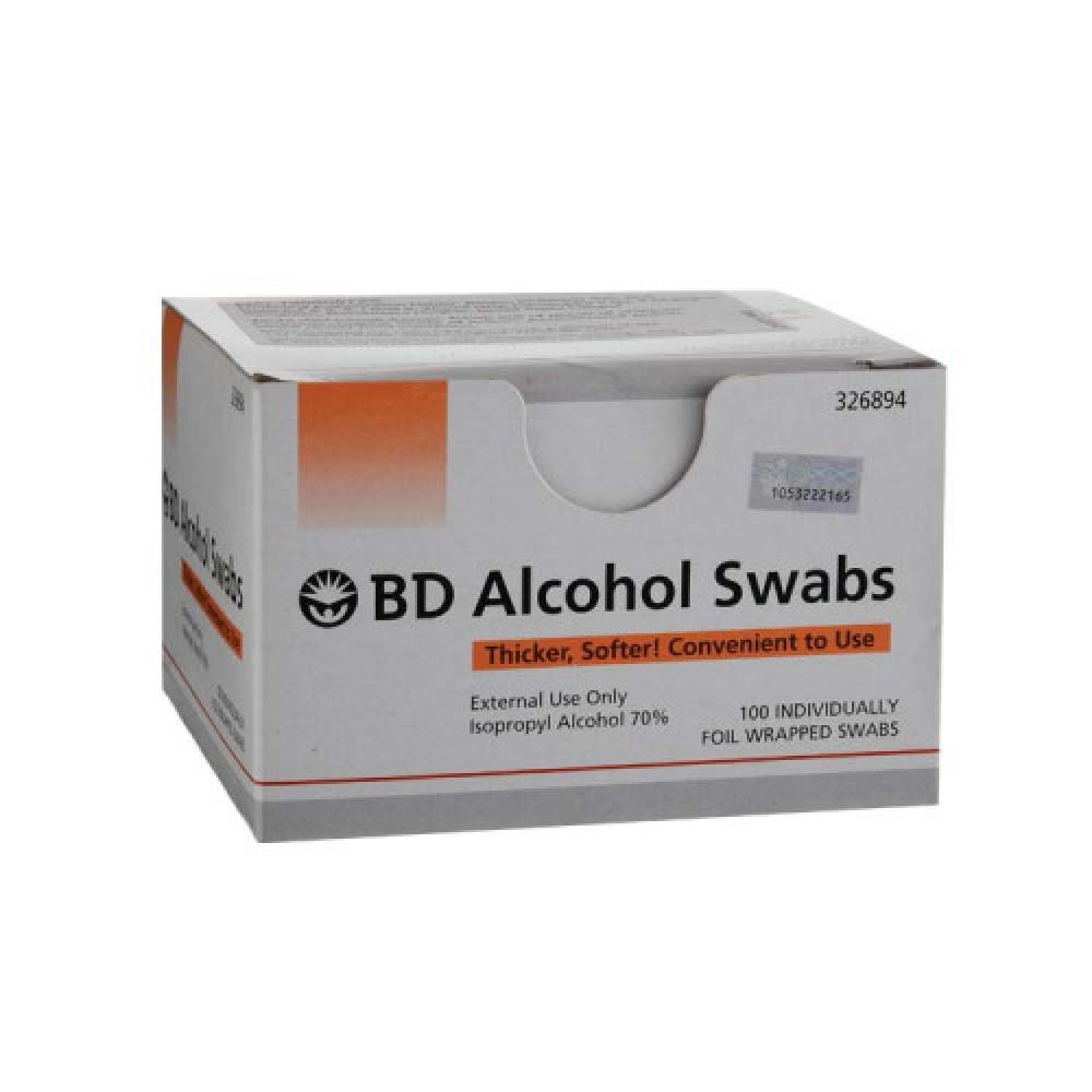 BD ALCOHOL SWABS 100`S