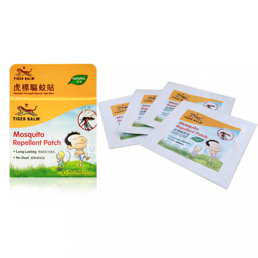 TIGER BALM MOSQUITO REPELLENT PATCH 10`S