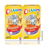CHAMPS C 100MG BLACKCURRANT 100'Sx2