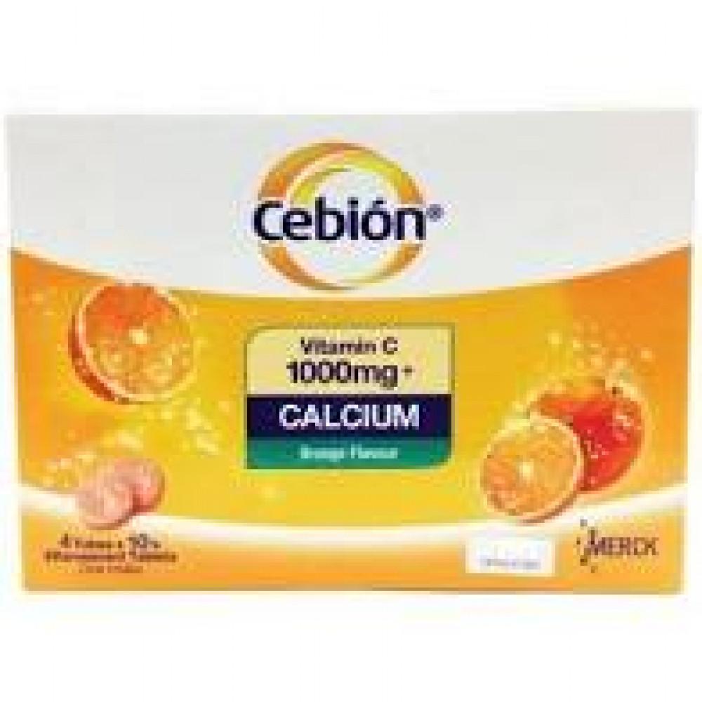 CEBION VITAMIN C1000MG + CALCIUM EFFERVESCENT 4X10S