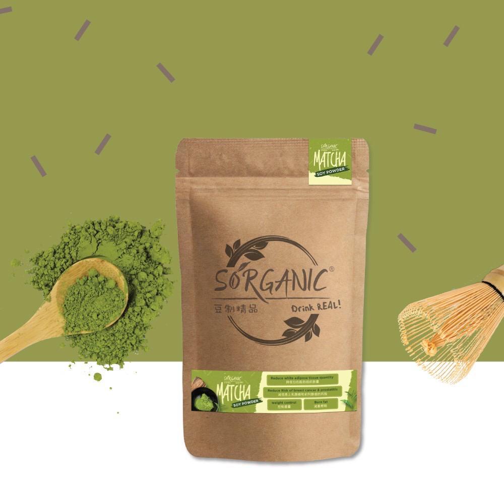 Sorganic Matcha Soy Powder (550g)