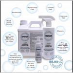 DFENZE   Sanitizer & Disinfectant   Kill 99.9% Germs, Virus & Bacteria   Non Alcohol   Non Toxic   Eco Friendly   Child Friendly   Food Grade 100ml