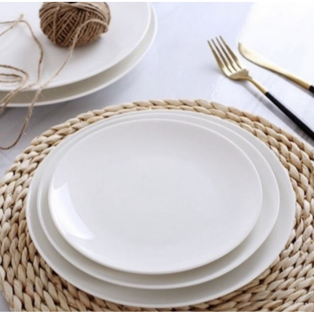 (Ready stock) Dinner Round Plate (6'/7'/8'/9') for Hotel Restaurant Kitchen Dining