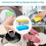 Dishwash Dispenser Soap Dispenser whitemilky soap Sponge Box Holder Dishwash Dispenser Kitchen Tools
