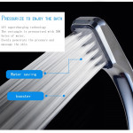 Realeos Pressurized Water Saving Hand Shower Head Bathroom (300 Holes) R793