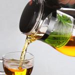 【House Partner】Elegant Tealeaf Isolated Teapot 500ml Thickened Teapot Heat-resistant Explosion-proof Household Teapot