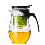 【House Partner】Elegant Tealeaf Isolated Teapot 500ml Thickened Teapot Heat-resistant Explosion-proof Household Teapot