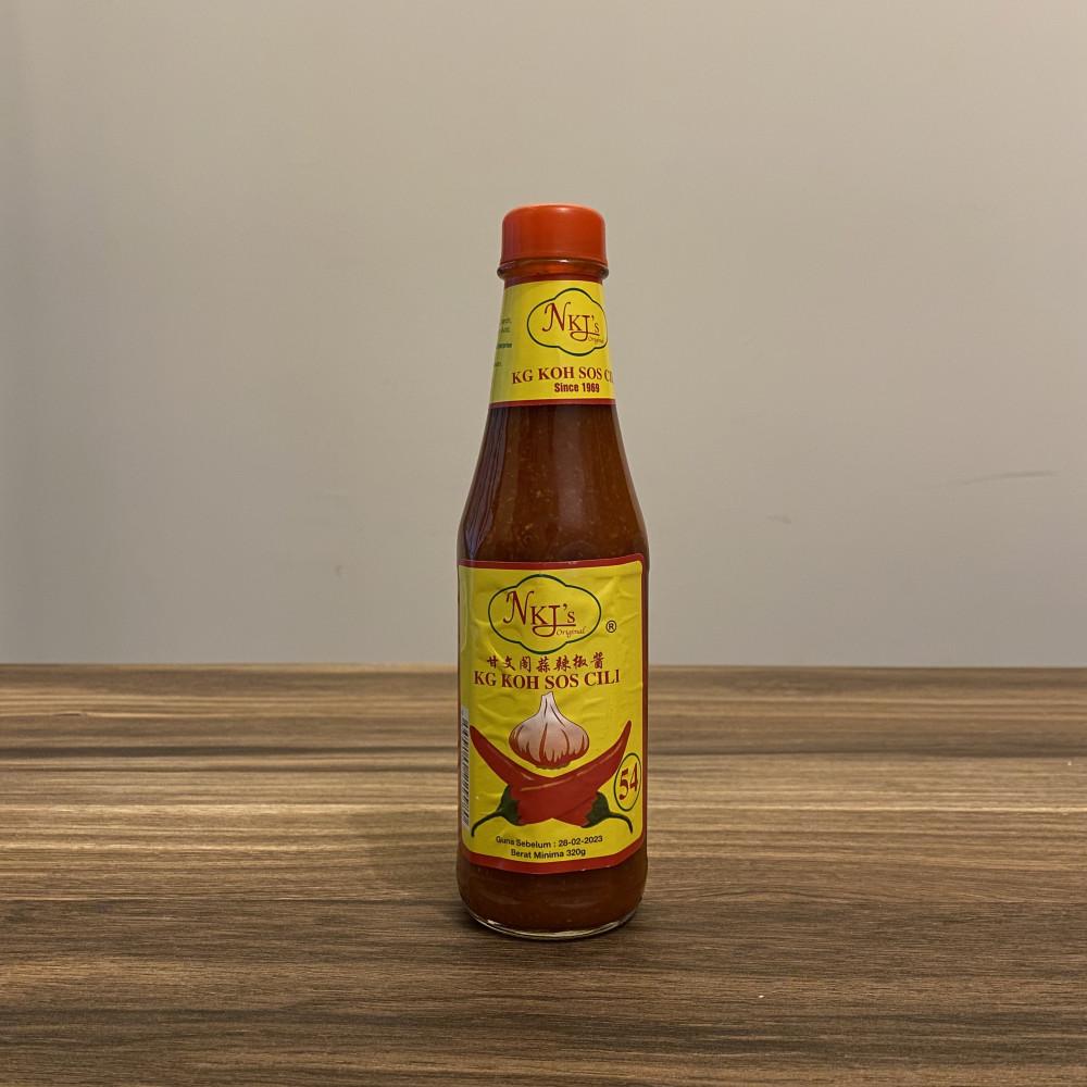 【NKJ'S】Kg Koh Sos Cili (Red Cap)甘文阁蒜辣椒酱(320gm)
