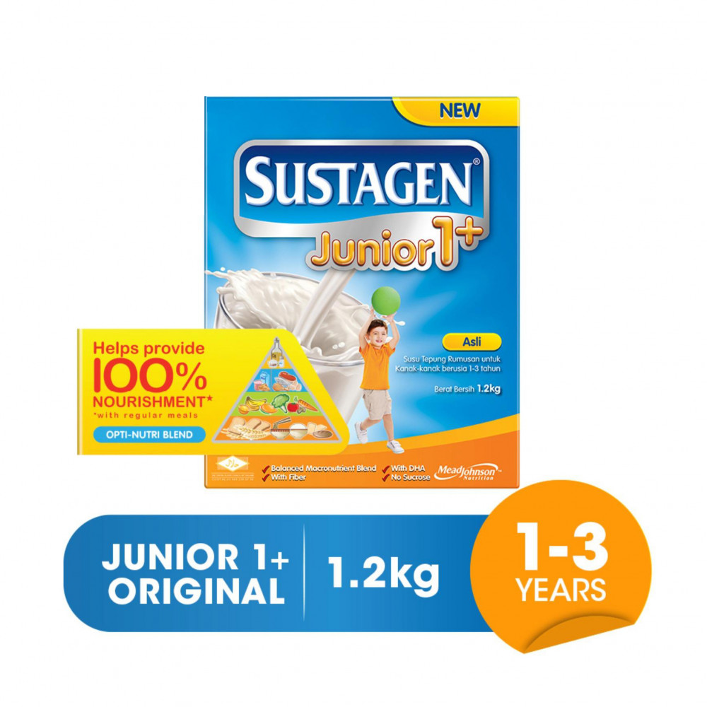 Sustagen Junior 1+ Milk Powder 1.2kg (Asli/Vanilla)