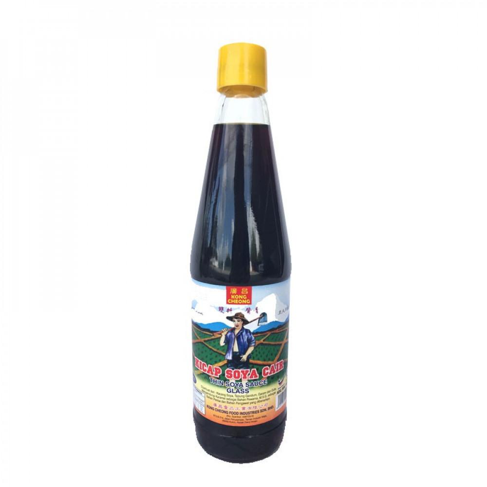 KONG CHEONG Farmer Brand Soy Sauce B-600ml 广昌农夫牌双料酱青(支装)